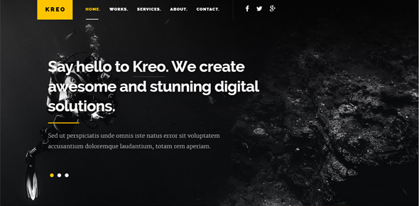 Kreo-–-Free-website-template