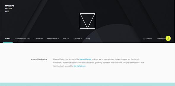 Material-Design-Lite-framework