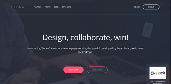 Sedna-–-One-page-website-template