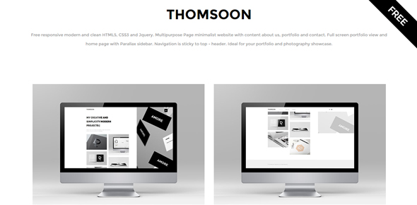 Thomsoon-–-Free-portfolio-template