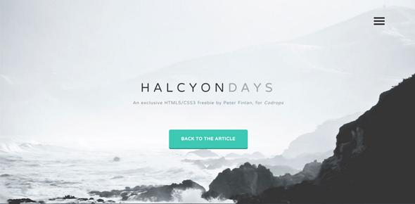 Halcyon-days-–-Free-HTML5-website-template