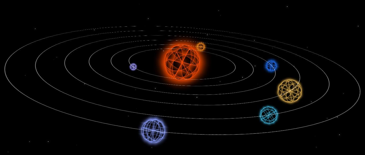 CSS3 3D 行星运转动画,太阳系动画